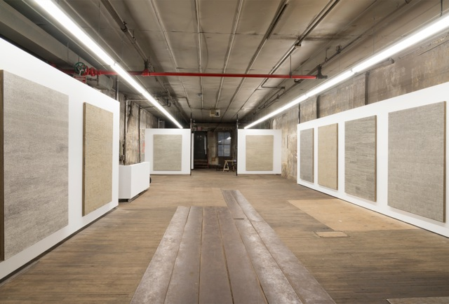 Jennifer Guidi:Field Paintings Install 1