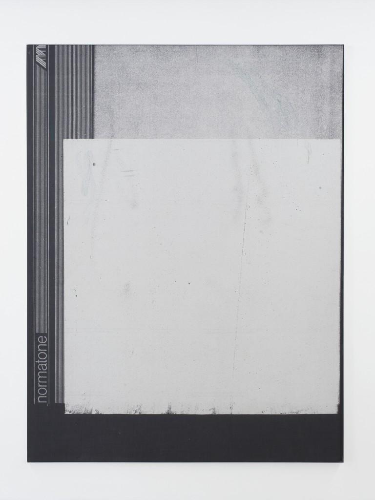 Manor Grunewald E.H.D (Inverse 06) 150x200cm oil, acrylics, spraypaint uv print, mesh fabric on canvas, aluminium framed 2016