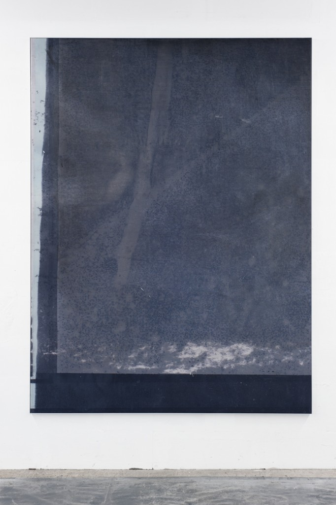 Manor Grunewald E.H.D (Letratone stripes white 01) 150x200cm oil, acrylics, spraypaint, uv print on synthetic canvas, alu framed 2015