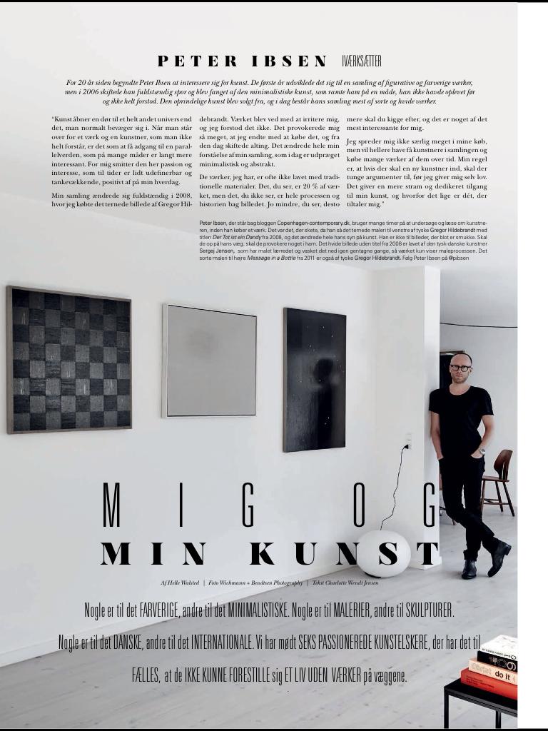 Peter Ibsen Kunstsamler Rum Article VÆRK